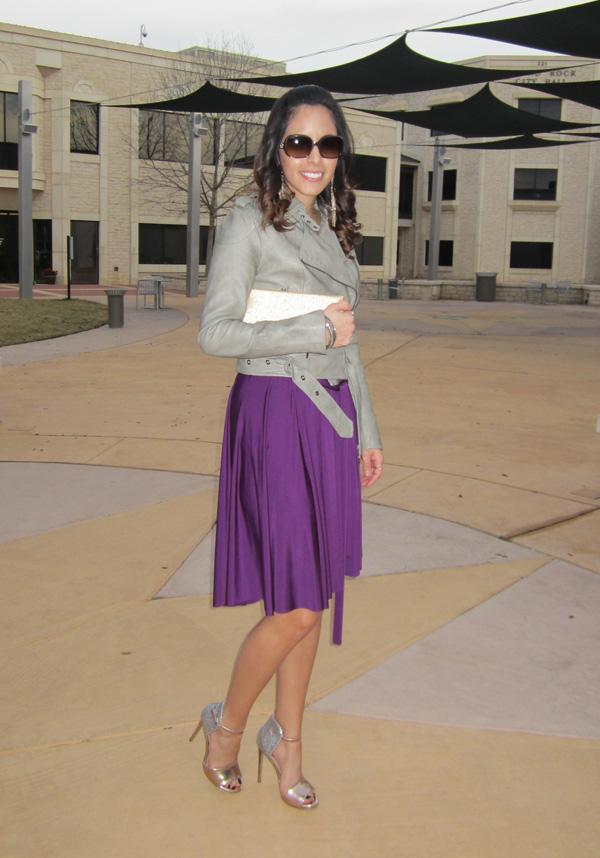 purple mardigras dress