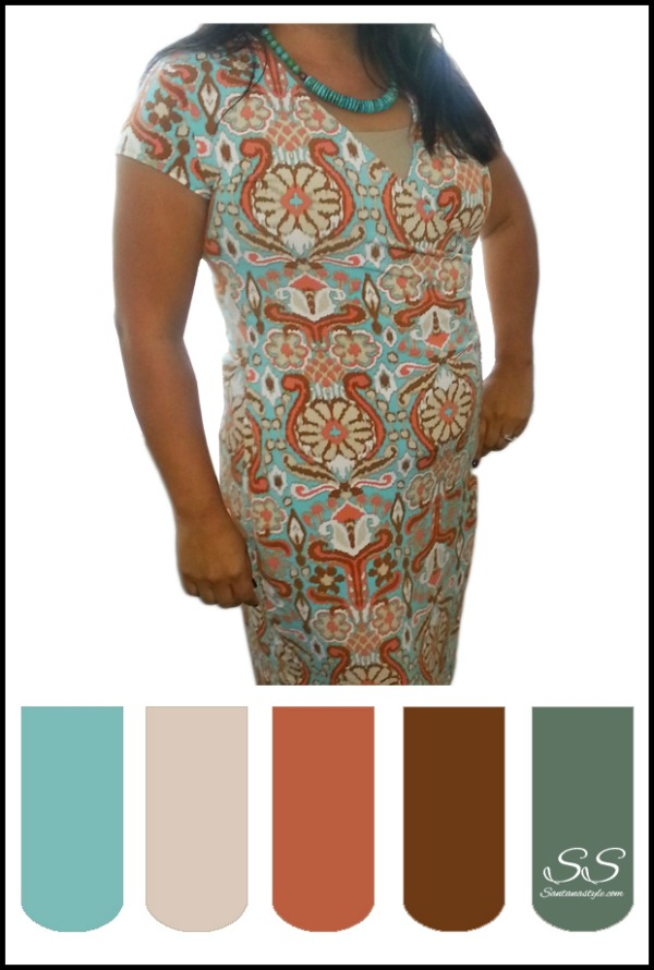 turquoise-pattern-wrap-dress-color-swatch