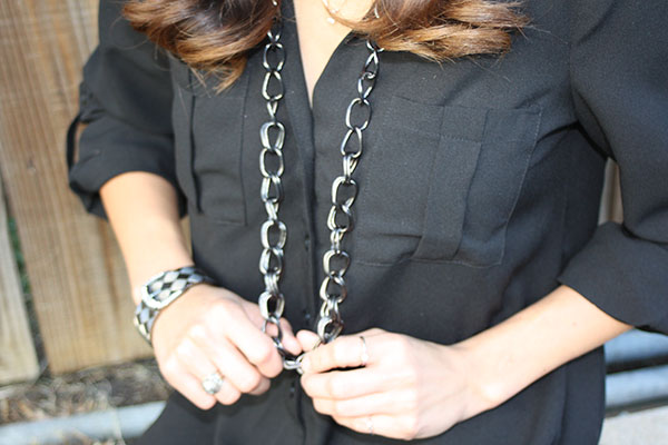 black-buttonup-chain-necklace-closeup