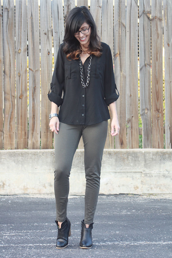 black-buttonup-olive-pants