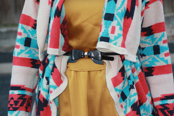 blackbow-tribal-sweater-mustard-dress
