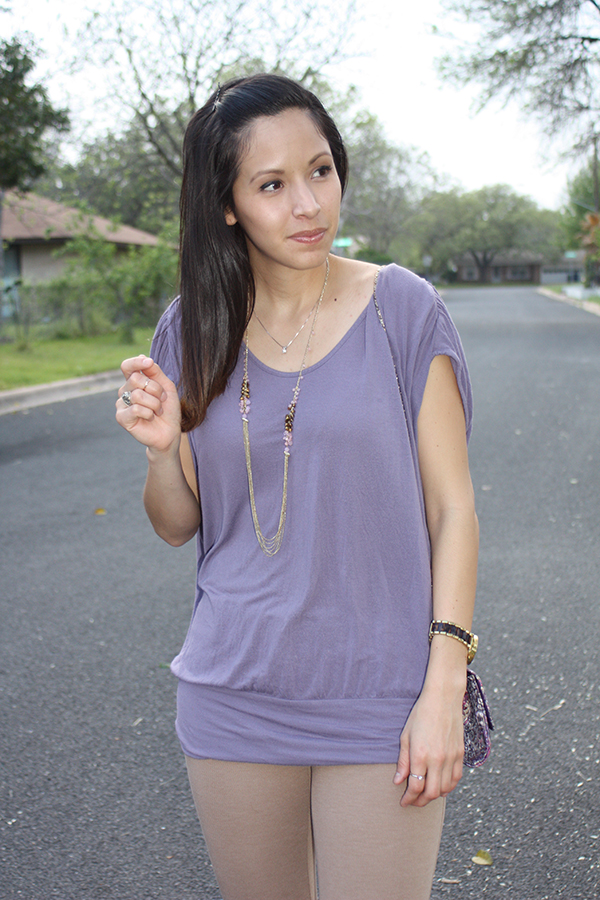 purple-top-tan-pants-necklace